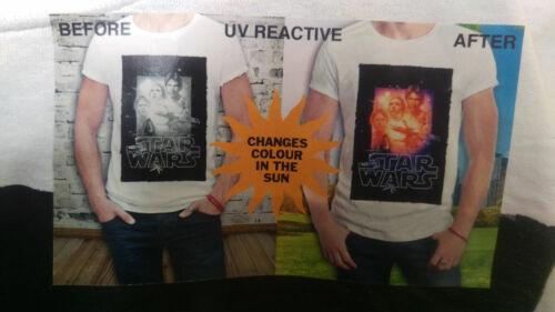 Changement De Couleur Uv Réactif Classic Star Wars T-Shirt Hommes Femmes Haut Moyen XL