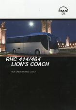 Prospekt MAN RHC 414/464 Lion's Coach Reisebus Bus Broschüre Omnibus brochure