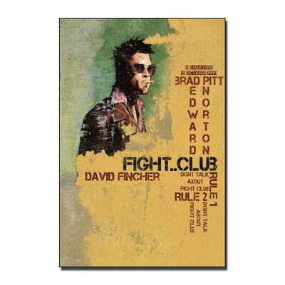 Fight Club Brad Pitt Art Print Classic Movie 13x20 inch