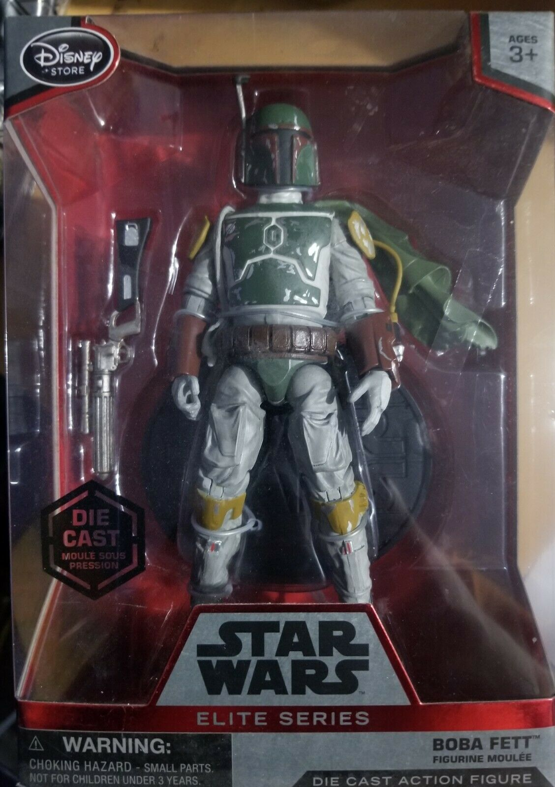 Star Wars Disney Store Elite Series Boba Fett with Cape Die Cast Figure New Rare