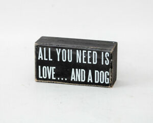 Primitives by Kathy Classic Box Sign All You Need Is Love and Chocolate 6x2.5 In