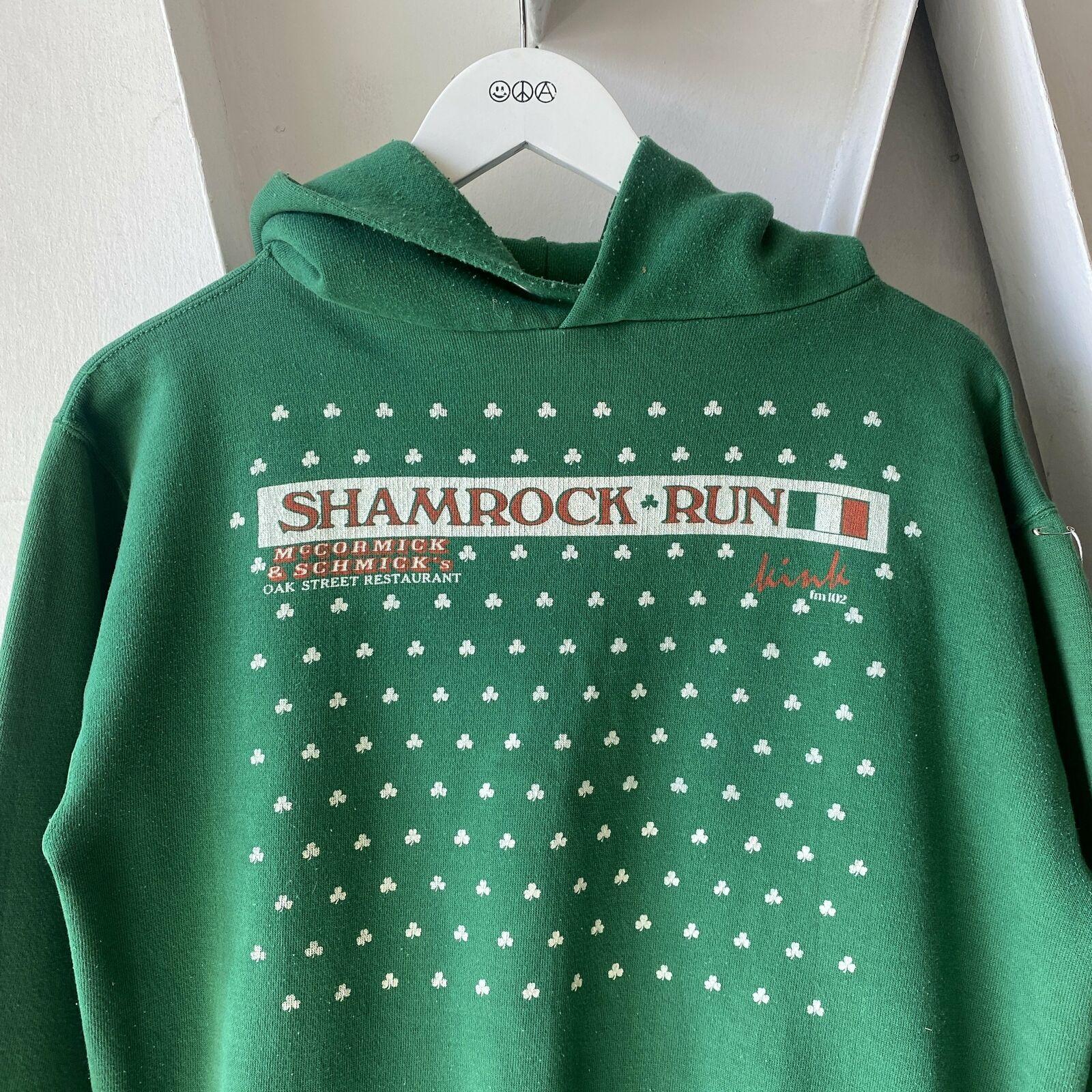 Vintage 70's Shamrock Run Irish Clovers Green Rus… - image 2