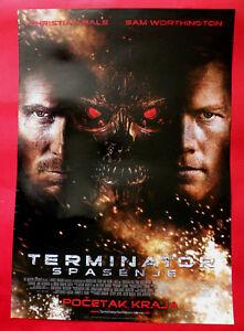 Terminator Salvation 2009 Christian Bale Sci Fi Unique Serbian Movie Poster Ebay