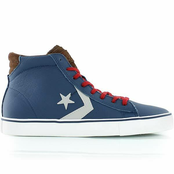 Converse Cons PRO LEATHER VULC MID POSEIDON 140756C blueE BROWN GREY Size 10 New