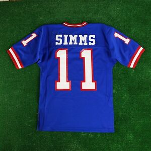 dc61fa8d8ca 1986 Phil Simms New York Giants Mitchell & Ness Blue Authentic Home ...