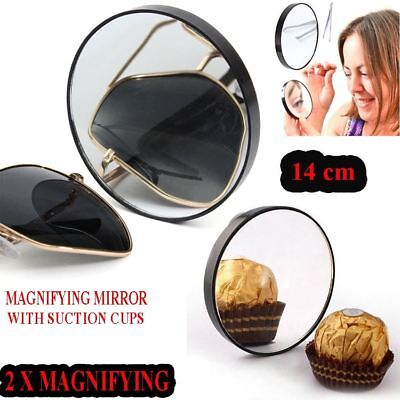 Systematisch Magnifying Mirror Fashion Make Up Cosmetic Round Mirror With Two Suction Cups