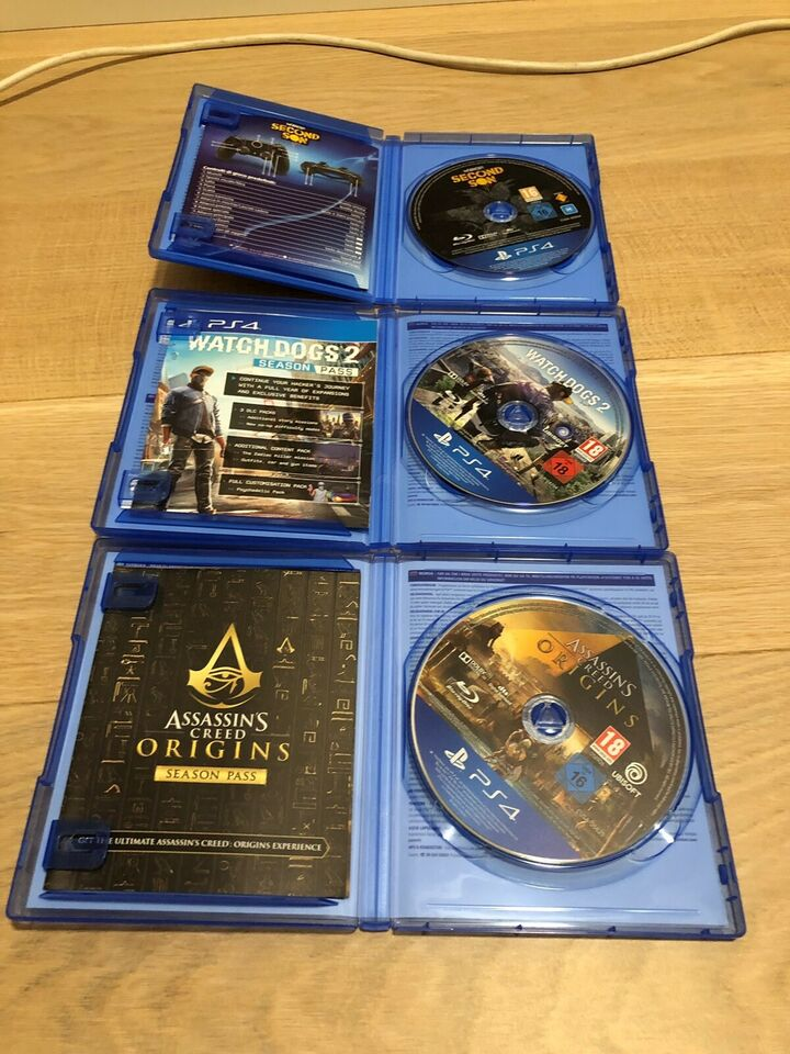 Assassins creed origins, inFamous, Watch_dogs 2