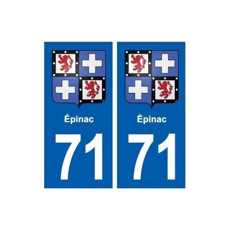 71 Épinac blason autocollant plaque stickers ville droits