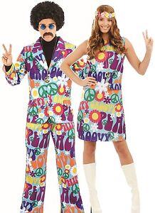 size 40 355b9 ea852 Dettagli su COPPIE Signore e da uomo anni'60 anni'70 Hippy Carnevale  Costume Costumi Abiti- mostra il titolo originale