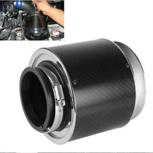 3-034-Inlet-5-034-Carbon-Fiber-Look-Auto-Car-Air-Filter-For-Cold-Air-Short-Ram-Intake
