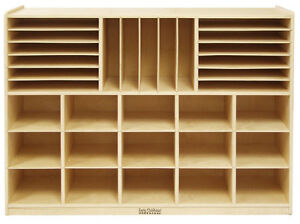 Multi Section Birch Storage Cabinet For Preschool Or Kindergarten