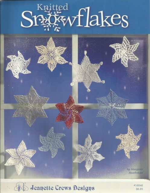 Knitted Snowflakes Margaret Heathman Knitting Patterns Jeanette