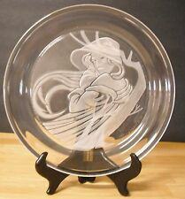 Morgantown Crystal Angelica Collector Plate MIB  Michael Yates Country Ladies
