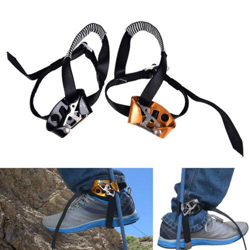 Right//Left Foot Ascender Riser Rock Climbing Mountaineering Equipment Gear DSUK