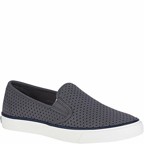 Sperry Top-Sider Wouomo Seaside Perf Slip-On Loafer Scale grigio Dimensione 8.5