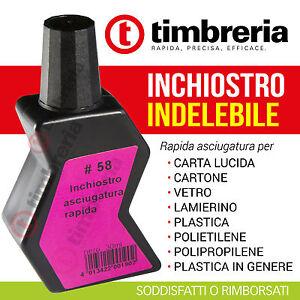 INCHIOSTRO-PER-TIMBRI-RAPIDA-ESSICCAZIONE-INDELEBILE-PER-PLASTICA-CARTA-VETRO