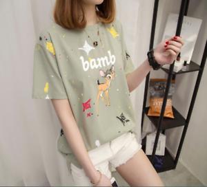 Girl/'s Casual Top Girl Blouse Shirt Tops Summer Korean Casual Ladies Fashion