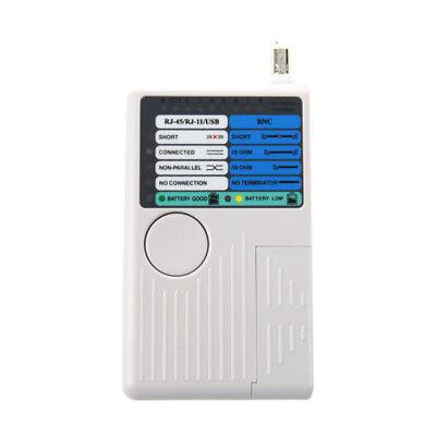 4in1 RJ45 Network RJ11 Phone USB BNC Multifunctional Tester&Bag White