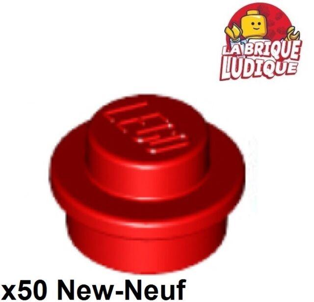 50 LEGO 1 x 1 Round Plates - Translucent Red New 4073