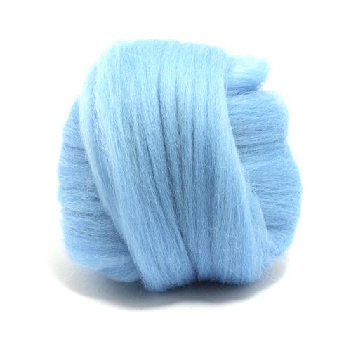 100g teñido Lana Merino Top Sky Luz Azul temores 64 De Spinning fieltrar itinerante