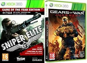 sniper elite v2 goty USED  & gears of war judgment  NEW&SEALED   Xbox 360  PAL