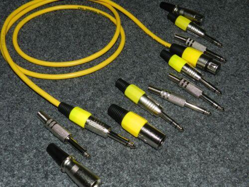 Klinke Kabel STEREO länge 30 m gelb 250002
