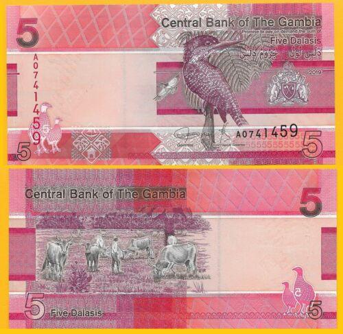 Gambia 5 Dalasis p-new 2019 UNC Banknote