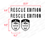 Rescue Edition 4 Pc Hood /& Badge Kit Decal Sticker Fits Jeep Wrangler HK11