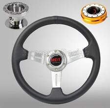 Chrome Steering Wheel Kit w/Quick Release GD For Hyundai Accent Genesis Tiburon