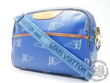 Sale! AUTH PRE-OWNED LOUIS VUITTON CUP 92 SAC COWES BLUE MESSENGER M80008 162022