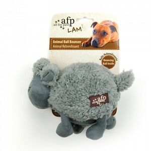 All-For-Paws-LAMB-CUDDLE-BALL-BOUNCER-Squeaker-Dog-Toy-STYLE-VARIES