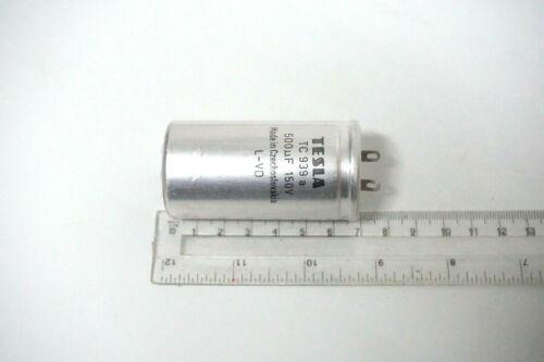 500uF 150V Aluminum Oxide Electrolytic CAPACITOR TESLA TC 939a NOS QTY-1