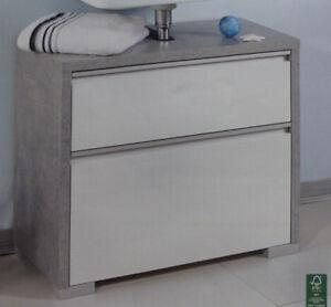 Moderner Waschbecken Unterschrank In Beton Optik Mit