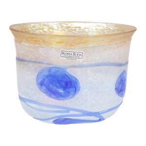 A Bertil Valien -Kosta Boda Bol Bleu & Blanc Suédois Verre Artisanal Lustre OU20mcfu-08033020-446043220