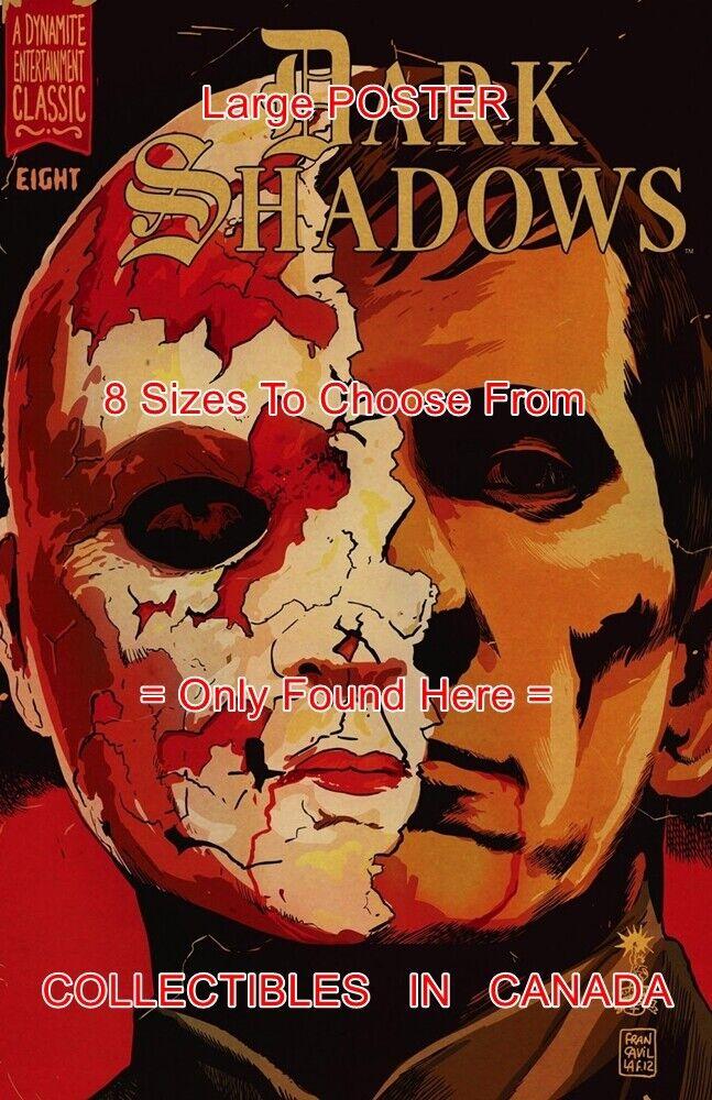 DARK SHADOWS  8 Barnabas HALF FACE = POSTER Not Comic Book 8 GrößeS 18  - 3 FEET