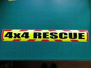 4x4 Rescue Magnet Chevron Recsue Lowland Highland Offroad Defender 90 Vitara