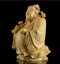 thumbnail 4 - 10*8*6cm Chinese Box-wood Hand Carving Taoism Immortal Lucky Lu God Statue 禄星