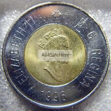 1996 Canada First Issue Polar Bear $2 Dollars Toonie Coin from Original RCM Roll