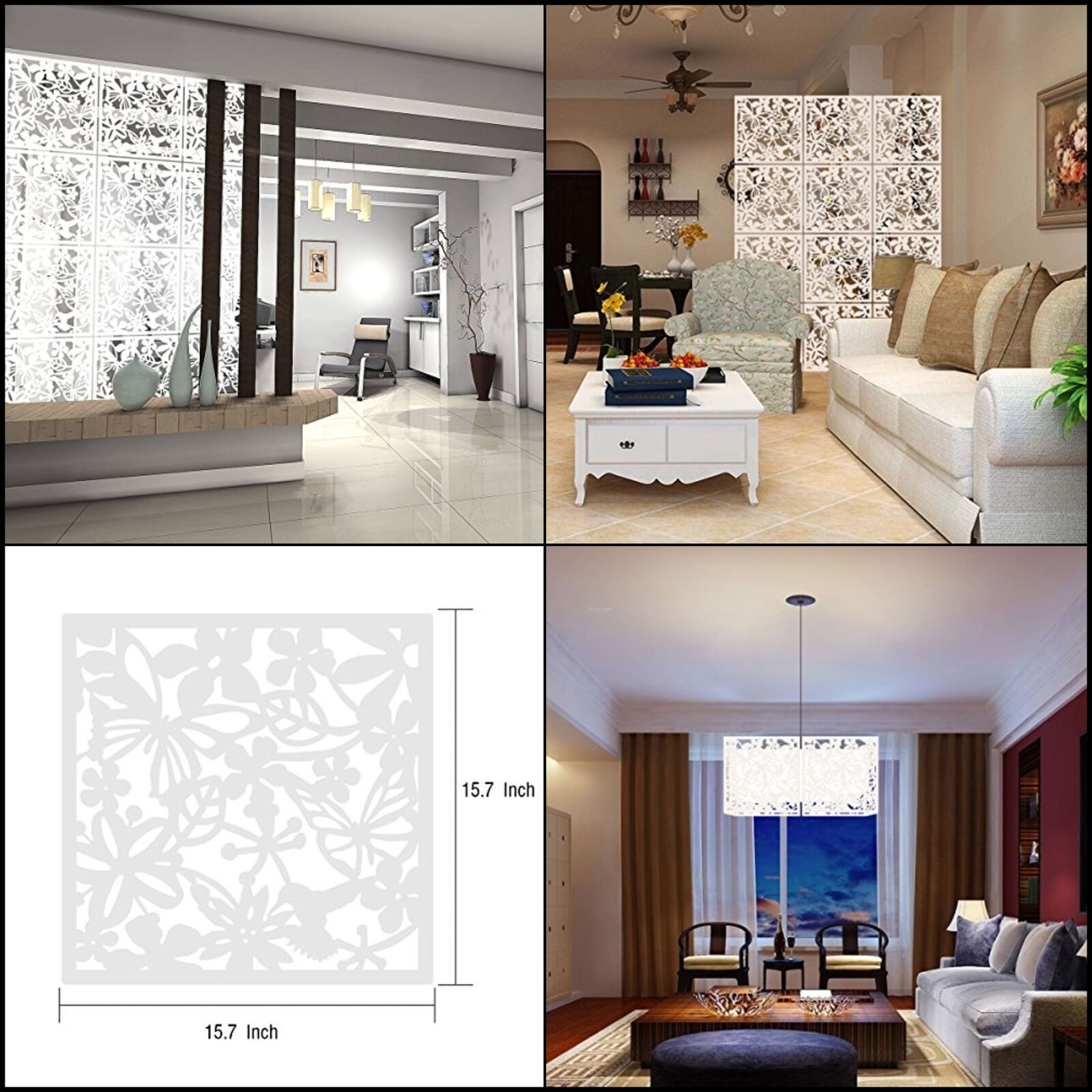 Amazing Hanging Wall Panels Decor Art Plastic Screen partition 12pcs