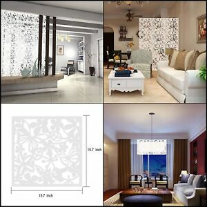 DIY Room Divider Hanging Wall Panels Decor Art Plastic Screen