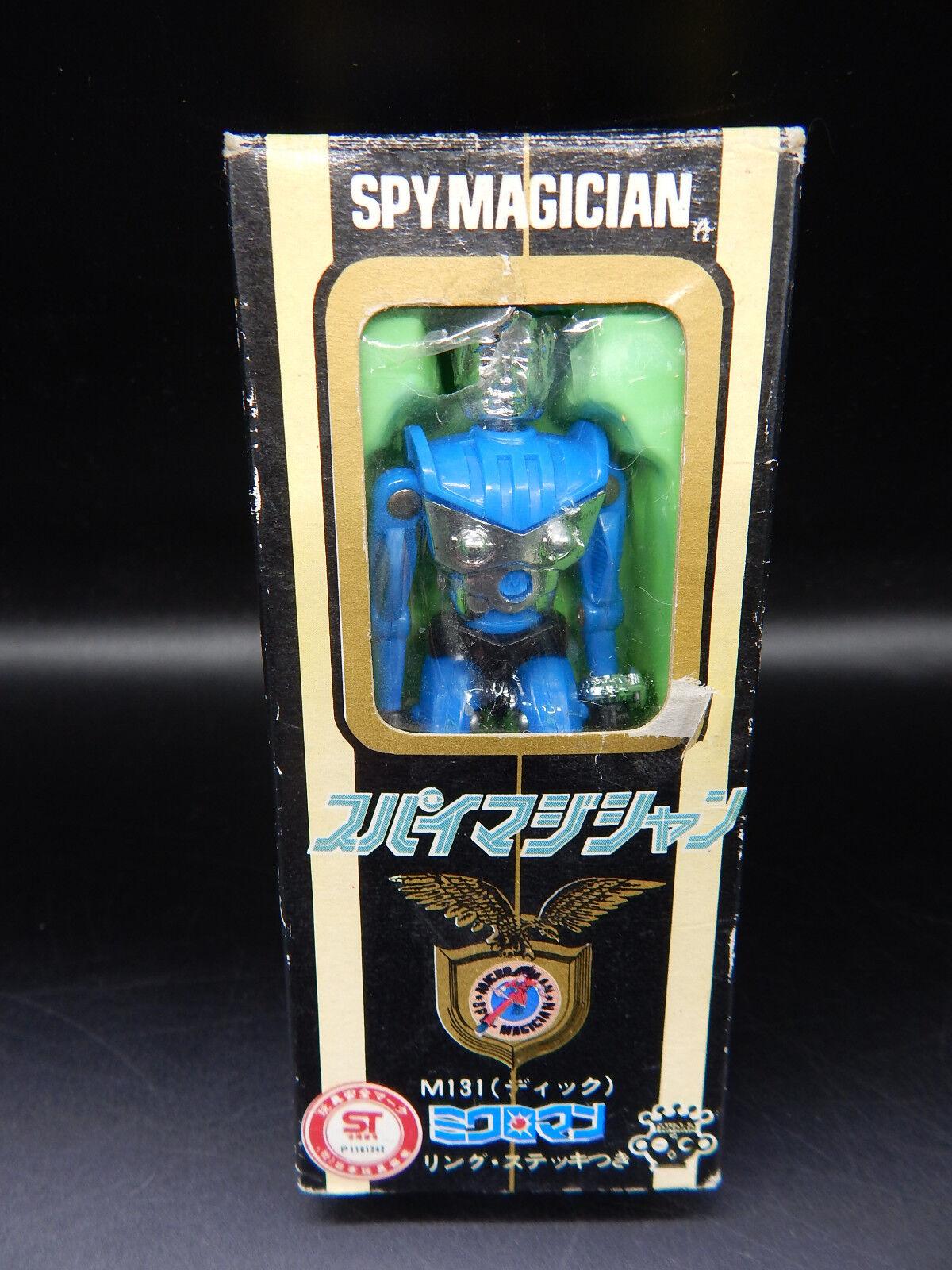 Original Vintage Microman espía Mago Figura Vintage Con Caja Takara Micronauts