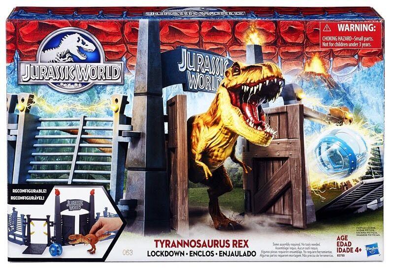 JURASSIC WORLD Tyrannosaurus COPRIFUOCO T Rex Park Playset NUOVO CON SCATOLA Dinosauro Sfera