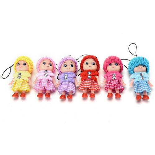 6PCS Animals Key Chain Cute Fashion Kids Plush Dolls Keychain Soft Stuffed ToTPO