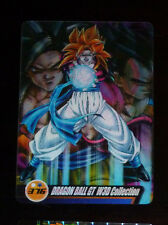 DRAGON BALL Z DBZ MORINAGA WAFER CARD CARDDASS PRISM CARTE 376 3D MADE JAPAN NM