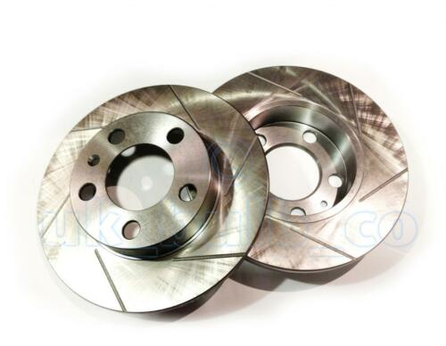 GROOVED 9N/_ SLOTTED Performance REAR Brake Discs VW POLO 1.9 TDI 2001-On
