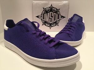 ADIDAS ORIGINALS STAN SMITH PRIMEKNIT NIGHT FLASH PURPLE B27151 sz 9.5