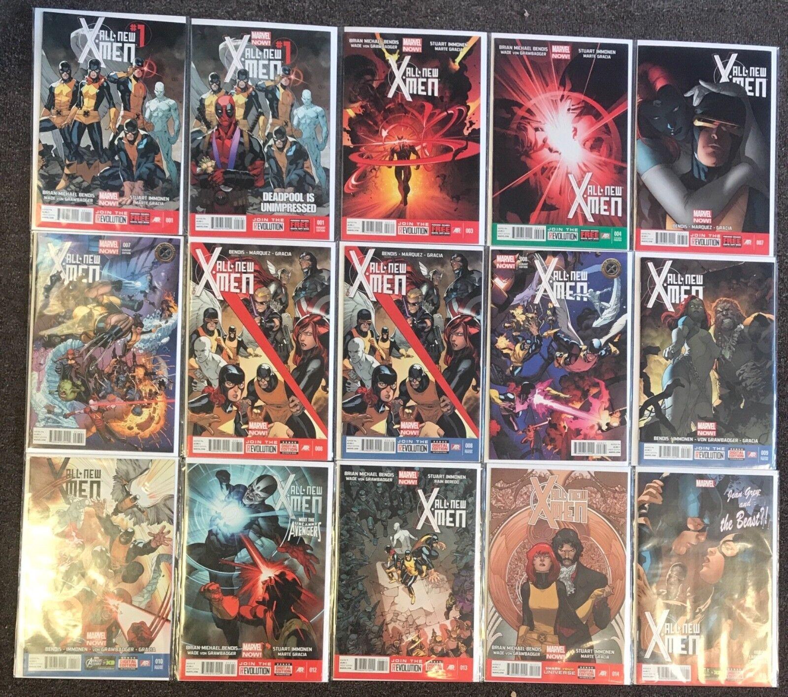45 All New X-Men annuals Marvel variant lot nm