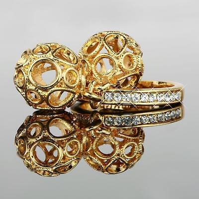 Uhren & Schmuck MüHsam Damen Ring Zirkonia Weiss Echt 750er Gold 18 Karat Vergoldet 17 Mm Ø R1181 üBerlegene Leistung Uhren & Schmuck