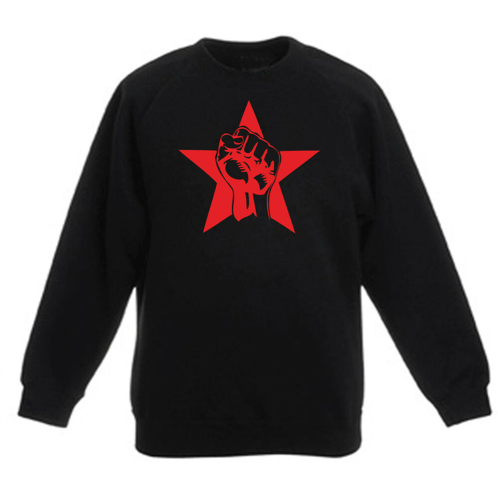 2019 DernièRe Conception Art T-shirt, Felpa Raglan Pugno Rosso, Bambino Bambina Child, Nero Aussi Efficacement Qu'Une FéE