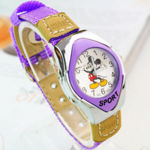 Fashion-Mickey-Fabric-Strap-Catoon-Quartz-Watches-For-Girl-Boy